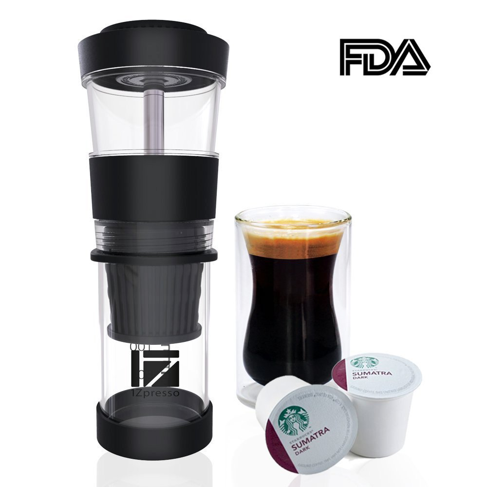 1Zmaker Portable Manual Espresso Coffee Machine Mini Hand Pressure K-Cup Coffee Maker