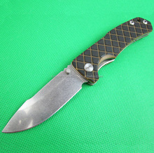 OEM Black G10 Handle Stainless Steel Folding Camping Hunting Knife