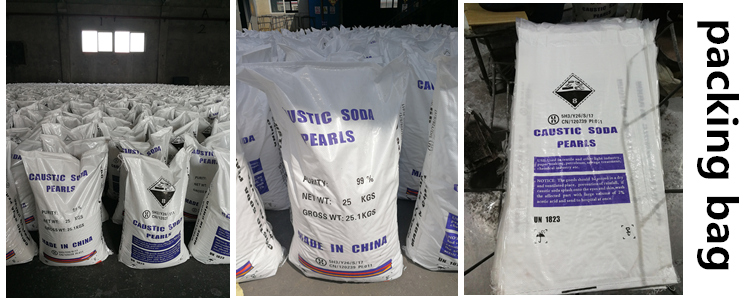 Big Discount Flake Pearls Solid caustic soda pearls 99% Sodium Hydroxide Made in China
