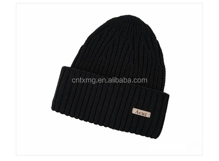 Fall and winter warm knitting wool hat cap male