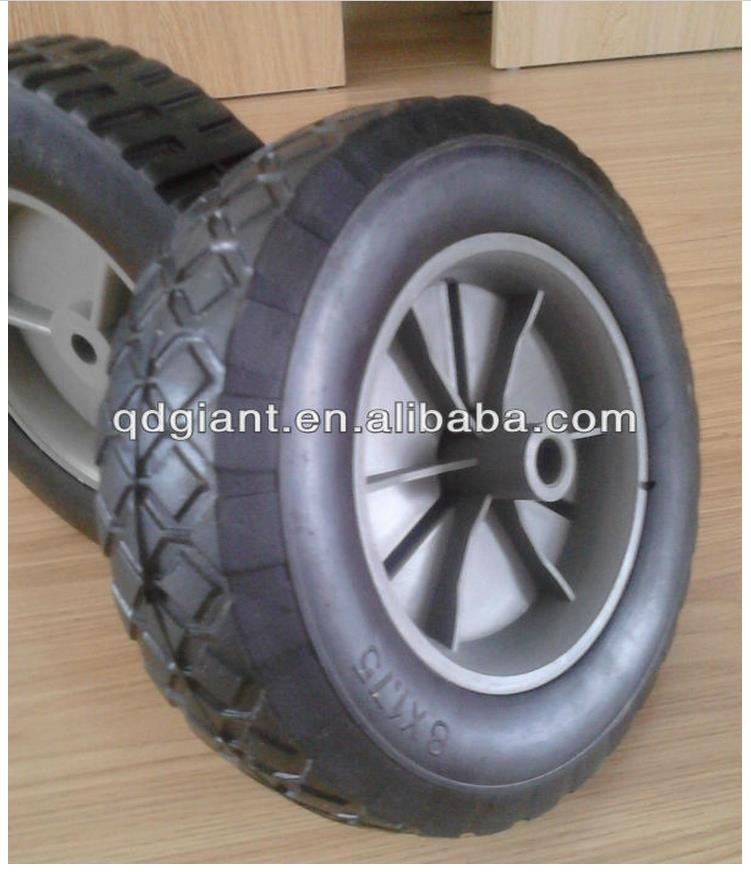 High quality portable 8 inch solid rubber wheel with plastic rim