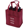 New product fashion grocery rectangle Non woven shopping bags for wine