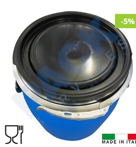 55L black stainless steel drum, oil drum with lock collar