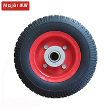 220mm small rubber wheels pu foam trolley wheel 2.50-4