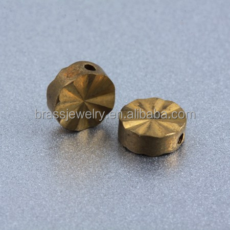 Fashion New Design Hot Selling Round Flat Shaped Lathe Cheap Brass Beads On Line