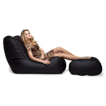 Pu Leather Bean Bag Sofa,Outdoor Beanbag Chair With Footstool - Buy Long  Beanbag Sofa Chair,Bean Bag Sectional Sofa,Modern Outdoor Beach Bean Bag ...