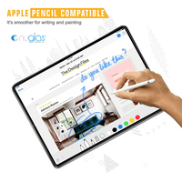 100% perfect fit bubble free easy installation Anti shock Super 9H tempered glass screen protector for ipad pro 12.9 2018