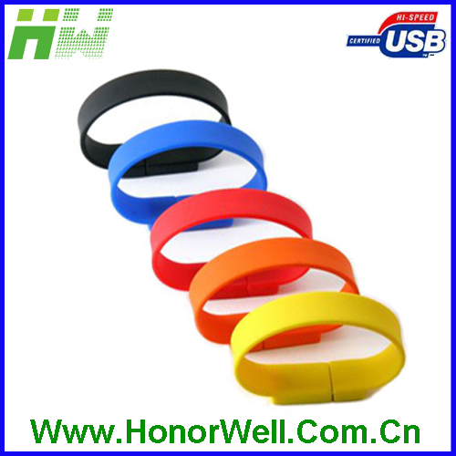 OEM Promotion Silicone Pendrive Bracelet Usb Flash Drive with Cutomized Logo