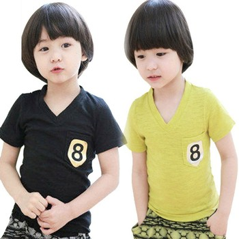 2015 New Arrival Children Boys Short Sleeve Shirts With Embroidery Pattern