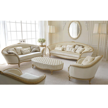 Franse fairy princess voel crème wit rococo bladgoud sofa set <span class=keywords><strong>antieke</strong></span> woonkamer art meubels set high end home meubels