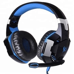 Wholesale Stereo Bass Headphone LED Light Gaming Headset with Mic