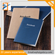 2018 New China Manufacturer Kraft Paper Sewn /Saddle Stitching Eco Friendly Lined Notebook