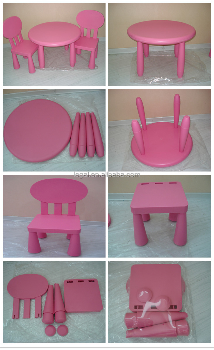 2015 Best Choice New Design Good Quality Hot Sale Round Plastic Kids Table  And Chair Set