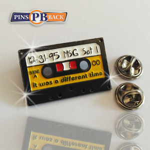 Promotional square radio shape pins enamel with butterfly clutches wholesale black dye material custom enamel pin making
