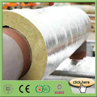 Central Heating Systerm Rock Wool Pipe insulation Line