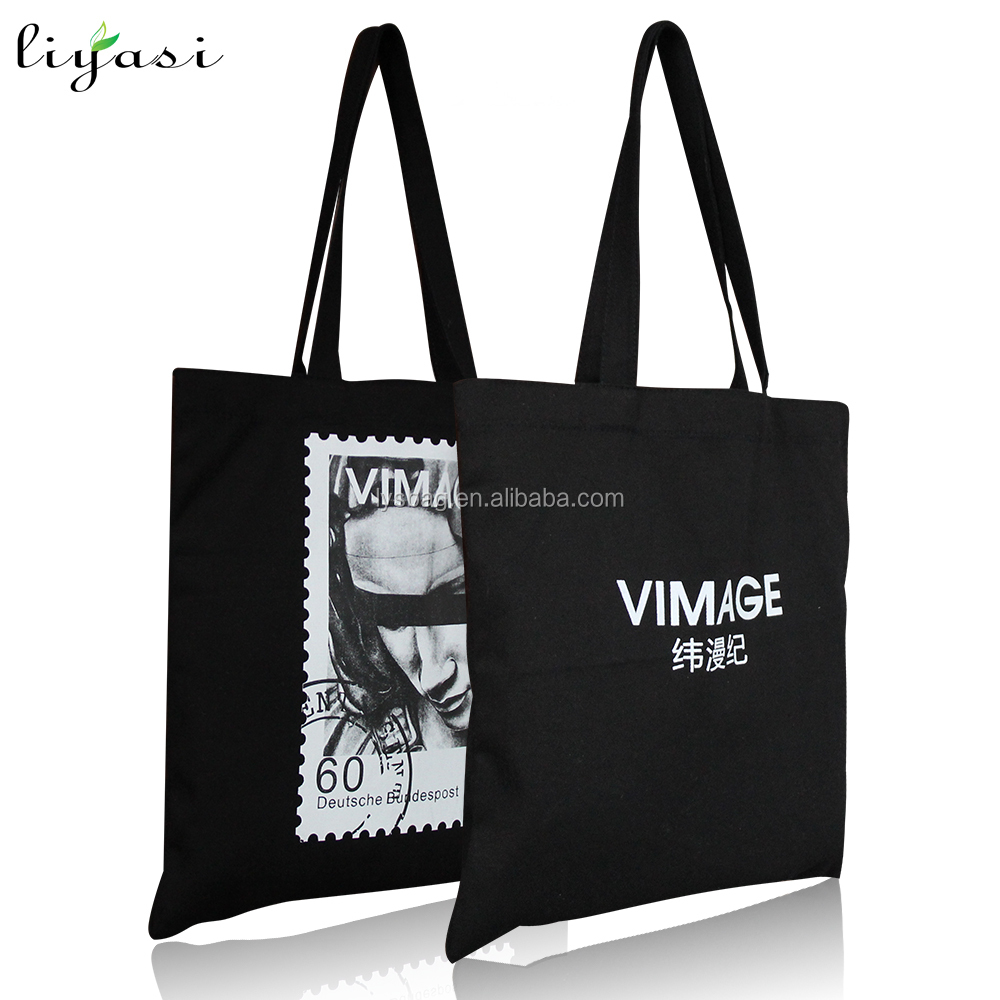 Custom-Made Cotton Bag Shoping Bag,Wholesale Price Black Cotton Tote Bag