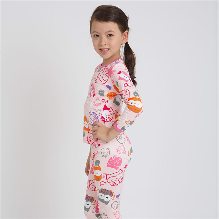 Kids Wholesale 100% Cotton Popular Funny Pajamas for Girls in Winter