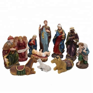 Catholic church manger religious resin nativity christmas statues sets