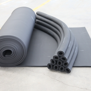 Fg insulation material thermal reflective bubble air pure aluminum foil clad elastomeric vulcanization rubber foam duct used