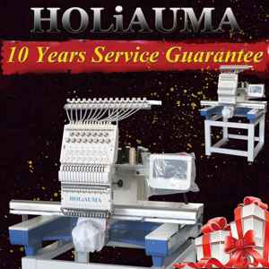 HOLiAUMA commercial 15 colors single head computer embroidery machine price for cap/t-shirt/flat ,embroidery machine one head