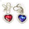 Beautiful crystal titanic heart of ocean necklace jewelry