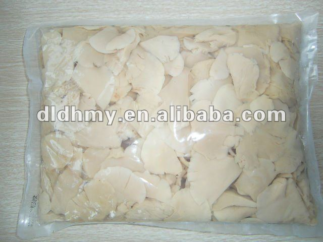 Boiled white oyster mushroom in pouch