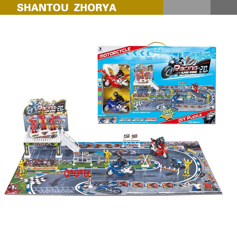 Zhorya intelligence series motorcycle DIY puzzle toy for kids playing