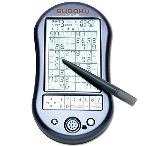 "Bits and Pieces - Deluxe Sudoku Handheld Game - Electronic Pocket Size Sudoku Game, LED Screen, Great Gift - Measures 2-3/4"" wide x 4-3/4"" long x 3/4"" deep"