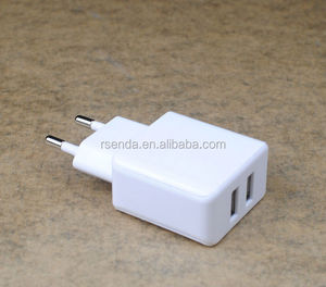 universal usb charger 5V 2A dual usb travel charger adapter for samsung