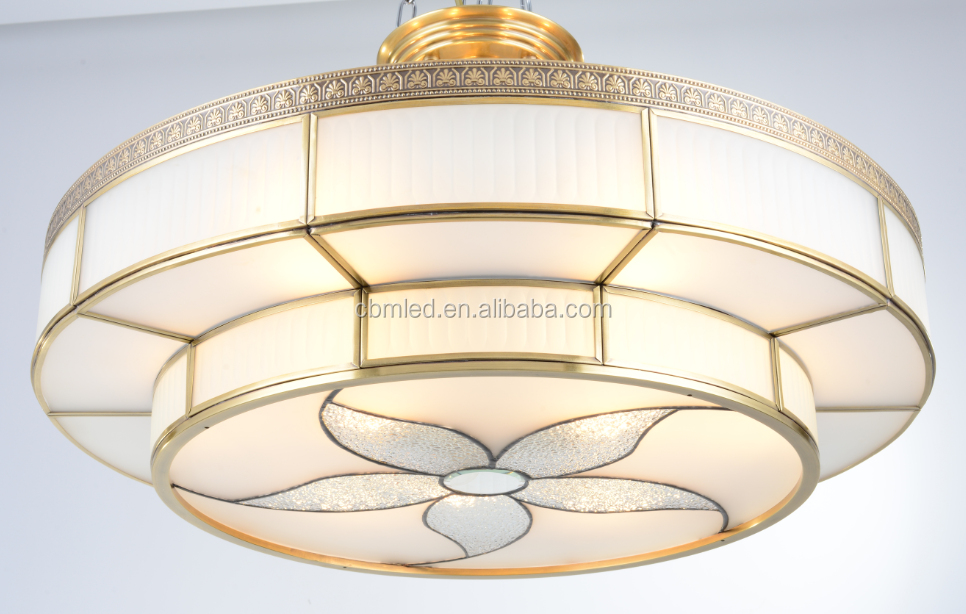 Chandelier Ceiling Fan Combo For ConstructionDaylight Led