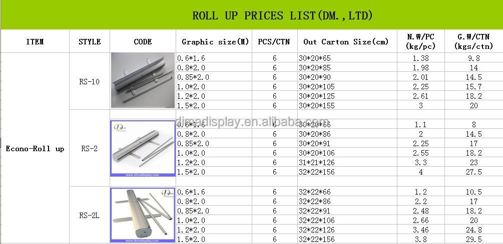 Silver Aluminium 80x200 Roll Screen Roll Up Banner