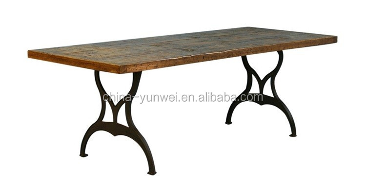 Pair Of New York Industrial Cast Iron Machine Coffee Table Legs