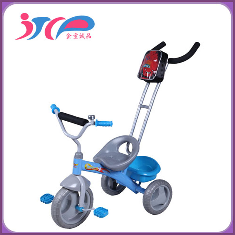 2015 plastic baby tricycle baby with handle bar/canopy, baby kids bicycle/tricycle good