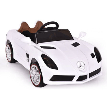 e33c919f9b2d1 white ride on toy car remote 6 V electric cars children for 3-8 years