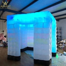 LED lighting cube wedding advertising decorative event inflatable photo booth