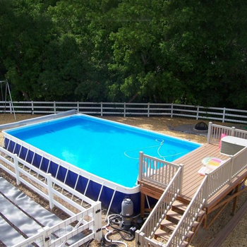 Custom Above Ground Metal Steel Frame Swimming Pools For Adult And ...