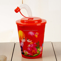 Plastic Kids Mug Cup 3D Lenticular Water Cup Promotion Cup