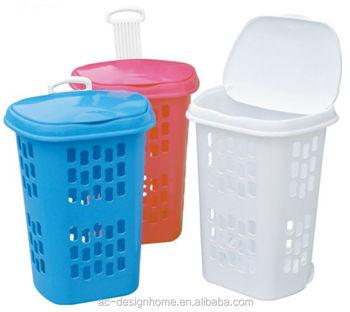 Fuchsia Turquoise Lime Green Orange 49l Rectangular Pp Plastic Laundry Basket W