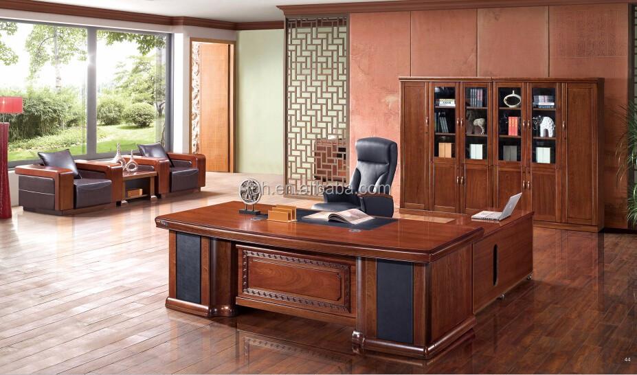 china modern office design layout walnut executive wooden