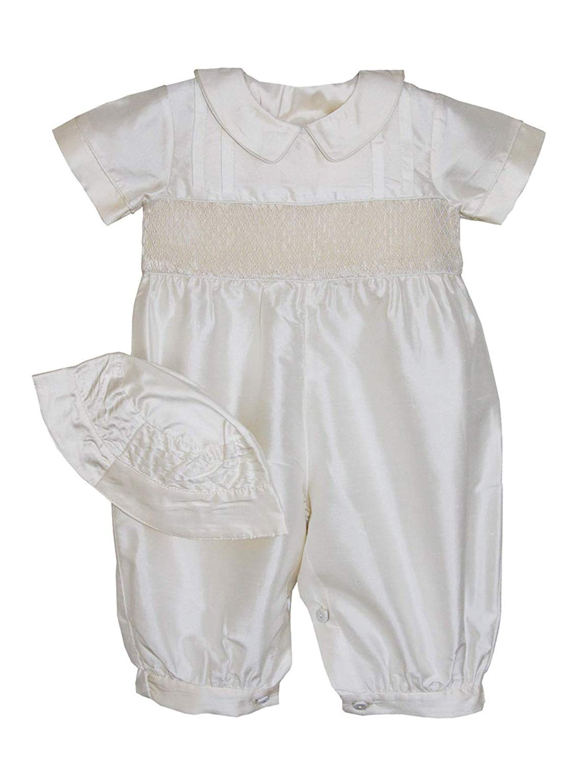 7f7f94ba1 Carouselwear Special Occasion Baby Boy Silk Smocked Christening Outfit
