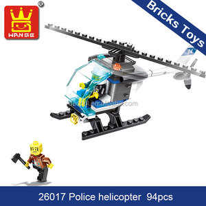 toys for children 2018 Wange 26017 police helicopter 94pcs funny building bricks and blocks
