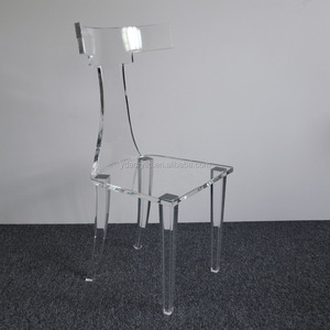 custom fancy acrylic chair with back rest PMMA lucite luxury chair five star hotel top quality high project acrylic furniture
