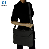 Shockproof 13 inch neoprene sleeve laptop shoulder cover tote bag with pockets