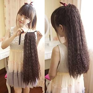 Fashion Women Girls Corn Hot Curly Wigs Ponytail Wigs Hair Extension