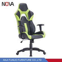Nova Chair Modern Swivel Gaming Chair Black and Green Color Design