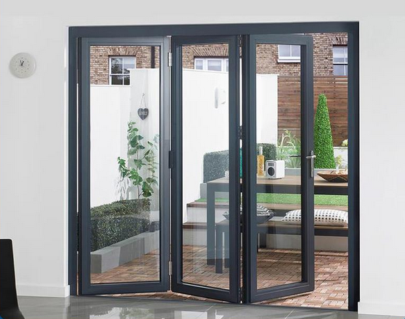 double clear glass soundproof accordion doors fashionable