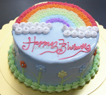 fake wedding cakes for sale 2015 high quality artificial rainbow birthday cake model 3997