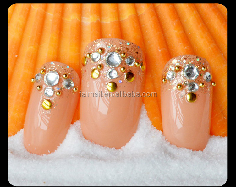 Artificial Fingernails Designed Nail Art French Tips /abs Fake Nails ...