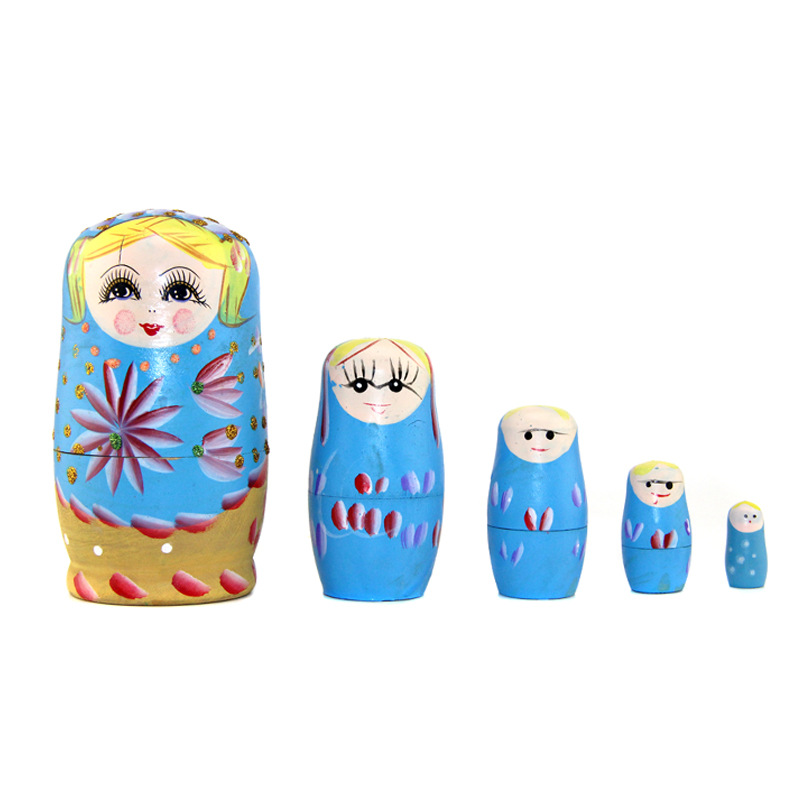 Hot sell wooden craft custom wooden russian nesting <strong>doll</strong>