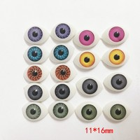 11*16mm Mix color Half Oval Acrylic Plastic Doll Eyes For BJD Dolls Toy Making